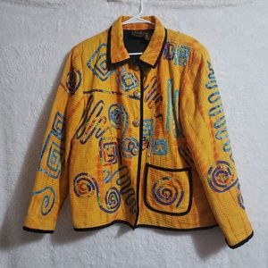 Julia kim vintage  yellow  jacket size L